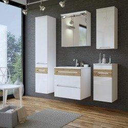 Białe meble łazienkowe w połysku Galaxy White 60 cm