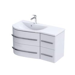 Oristo Szafka pod umywalkę 90 cm OPAL biała lewa