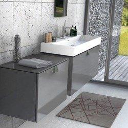 Oristo Zestaw mebli łazienkowcy 80 cm i 120 cm BOLD grafit połysk