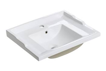 RETRO F60 DP - Umywalka meblowa 60 cm ceramiczna podwójnie pakowana