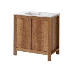 Szafka z umywalką 80 cm Classic Oak dąb Country