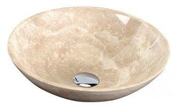 Umywalka kamienna polerowana 40x12 cm - kolor beżowy