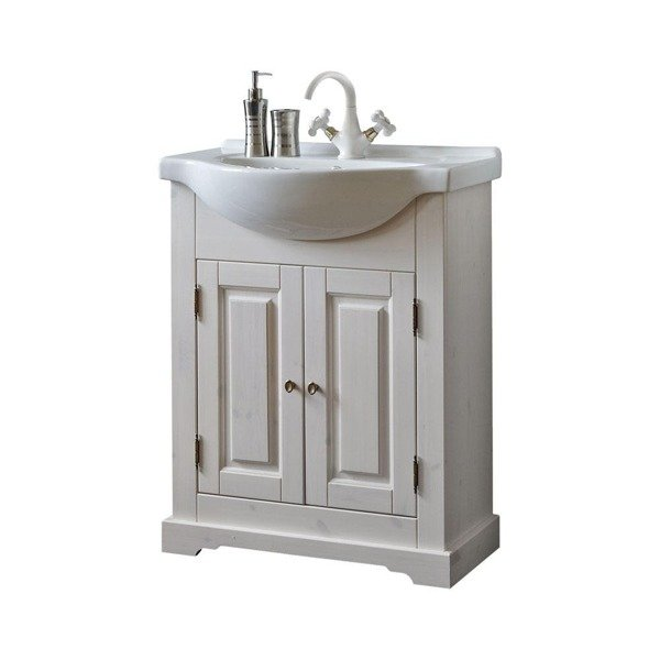 Drewniana szafka pod umywalkę 65cm Romantic