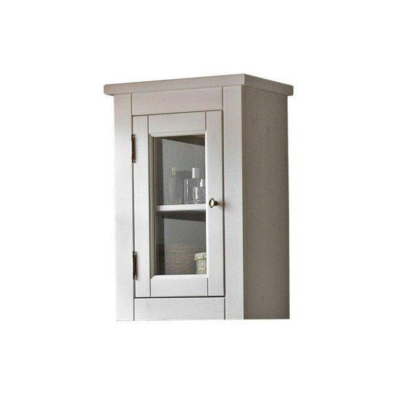 Drewniana szafka wisząca Romantic biała