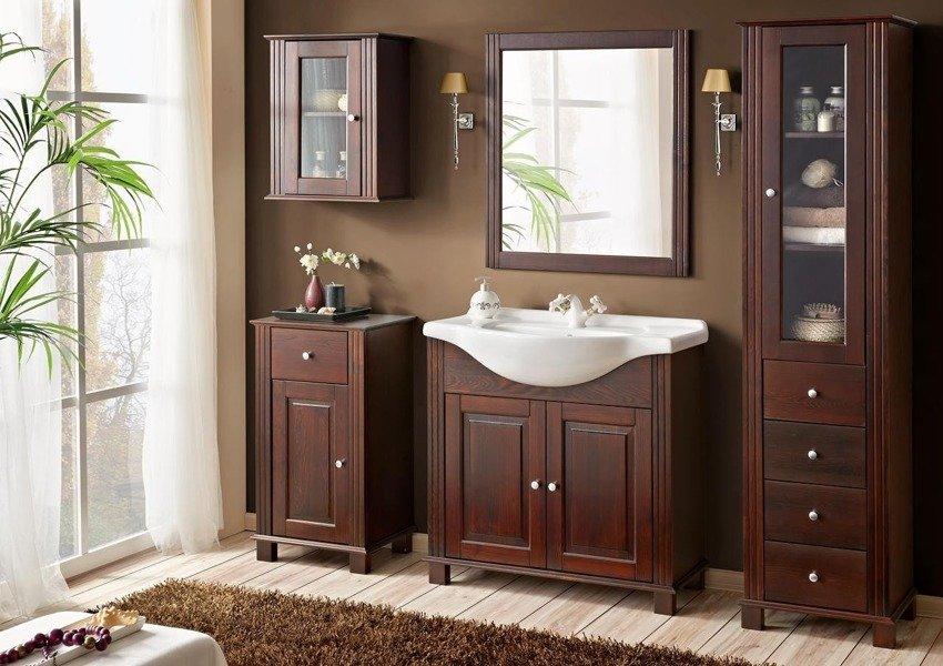 Drewniany słupek łazienkowy Retro