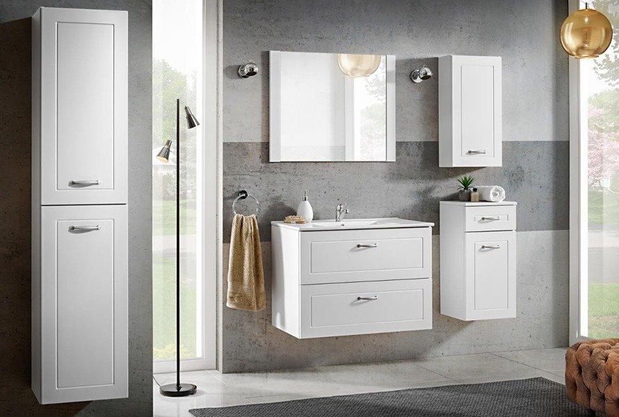 Lustro łazienkowe w ramie 80 cm Sophia biała