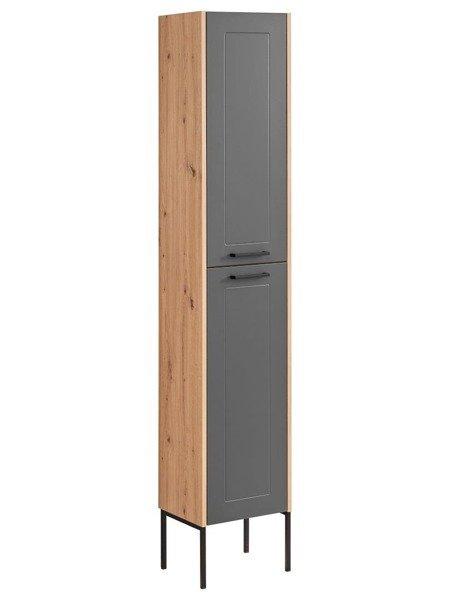 Madera Grey 800 - Szafka Wysoka 2D z nogami