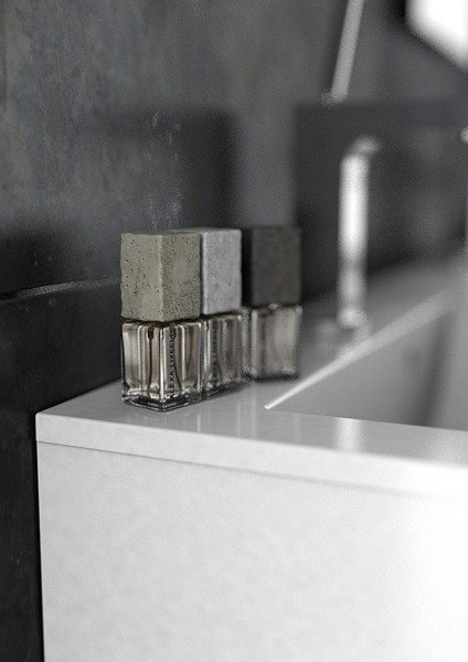 Oristo Szafka pod umywalkę 60 cm Silver szary mat
