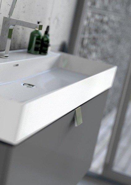 Oristo Szafka z umywalką 120 cm BOLD biały połysk