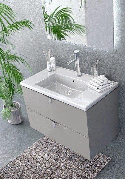 Oristo Szafka z umywalką 60 cm SIENA dąb czarny