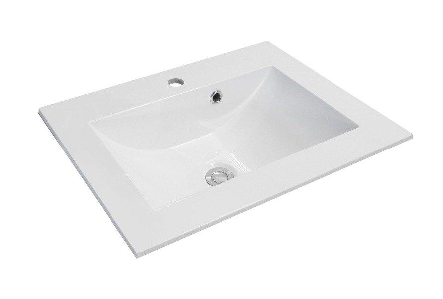 Oristo Szafka z umywalką 60 cm Silver biała
