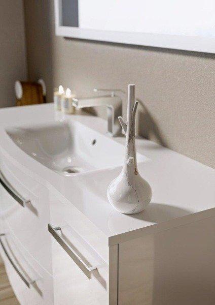 Oristo Szafka z umywalką 60 cm WAVE biała