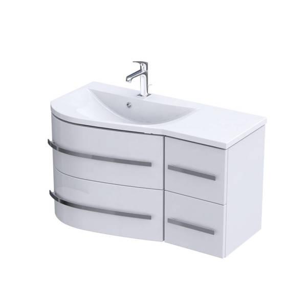 Oristo Szafka z umywalką 90 cm OPAL biała lewa