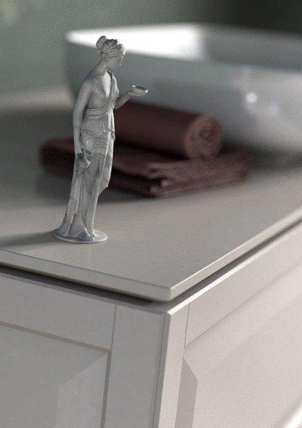 Oristo Szafka z umywalką MONTEBIANCO 120 cm biała +umywalka + nogi