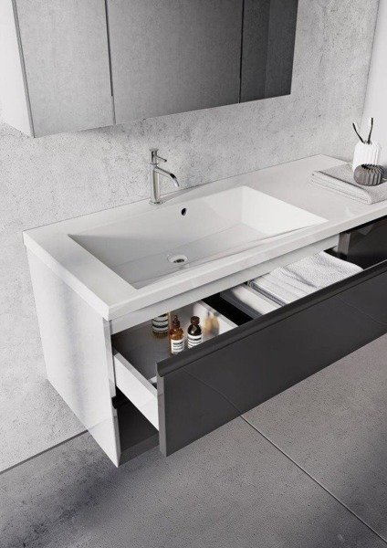 Oristo Zestaw mebli łazienkowych 125 cm BRYLANT biały P