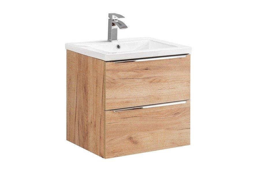 Szafka pod umywalkę 60 cm Capri dąb 820
