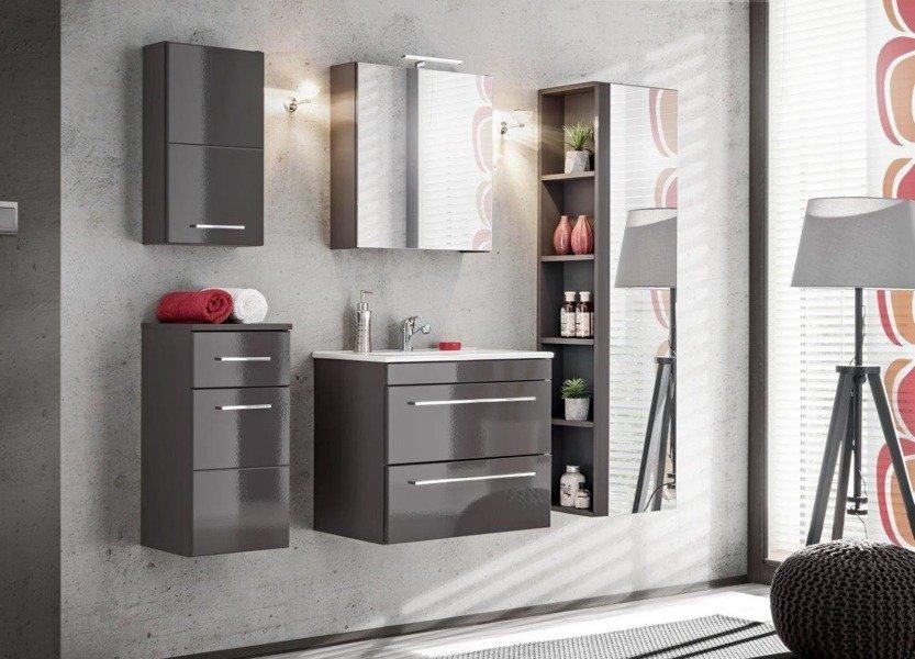 Szafka wisząca łazienkowa Twist Grey