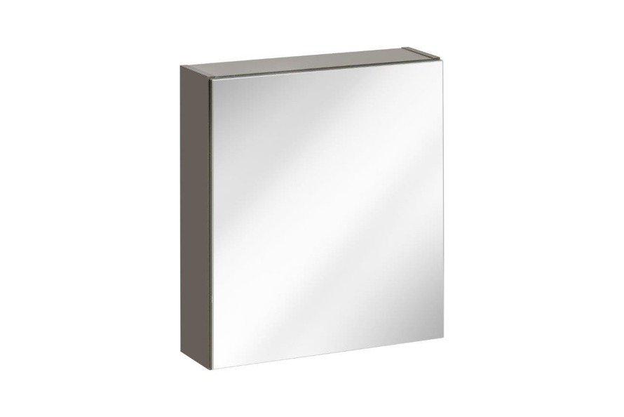 Szafka wisząca z lustrem łazienkowa Twist Grey