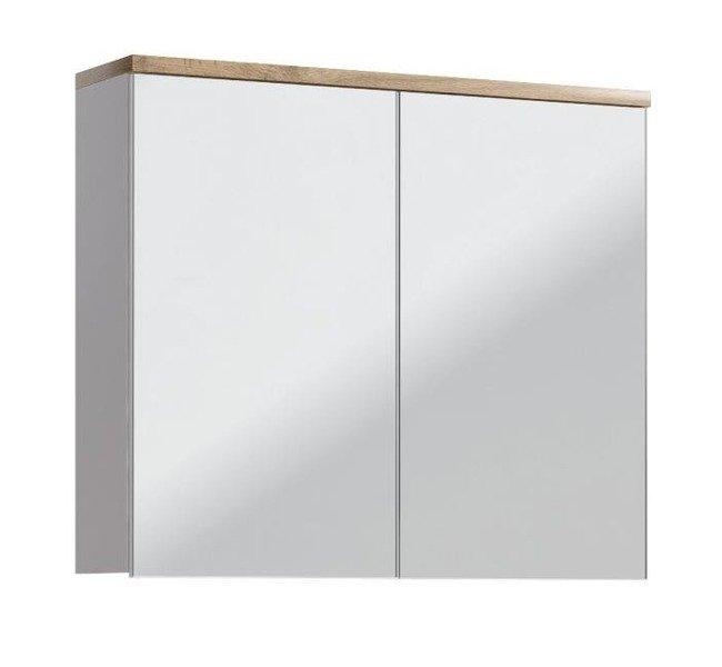 Szafka z lustrem 80 cm Bali Biały