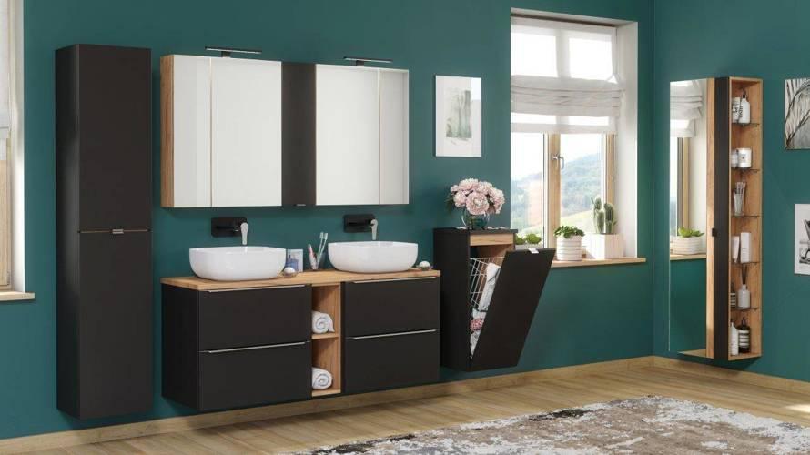 Szafki z umywalką 120 cm Capri Cosmos 820 + blat + umywalki