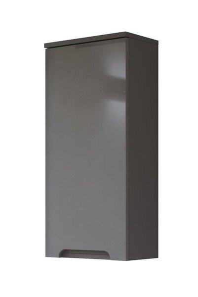 Szare meble łazienkowe w połysku Galaxy Grafit 60 cm
