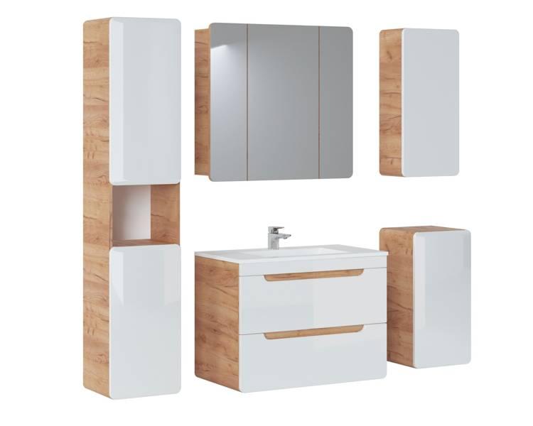 Zestaw mebli łazienkowych 80 cm Aruba z szafką z lustrem